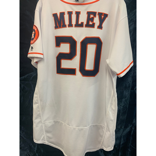 Photo of 2019 Wade Miley Game-Used Home White Jersey - Size 48