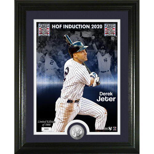 Photo of Derek Jeter 2020 HOF Induction Silver Coin Photo Mint
