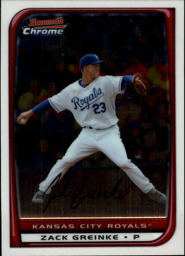 Photo of 2008 Bowman Chrome #141 Zack Greinke