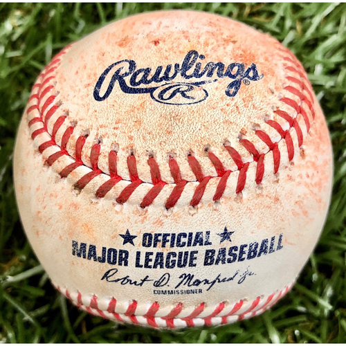 Photo of Game Used Baseball: Andrew McCutchen single off Aaron Slegers - September 26, 2020 v PHI
