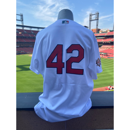 Photo of Cardinals Authentics: Team Issued John Nogowski Jackie Robinson Day Jersey