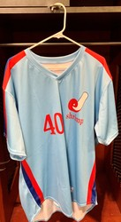 Photo of Jacksonville Expos Fauxback Jersey #40 Size 50