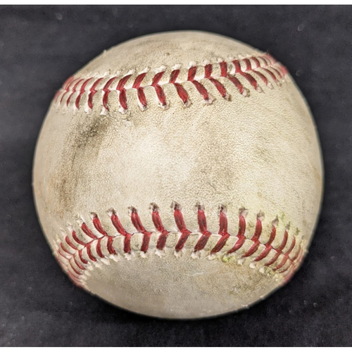 Photo of Game-Used Ball 4/25/2021 Padres @ Dodgers, Pitcher: Jimmy Nelson; Batter: Manny Machado - RBI Single to CF/Eric Hosmer - Ball