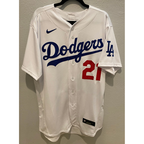 Photo of Walker Buehler Authentic Game Used Jersey
