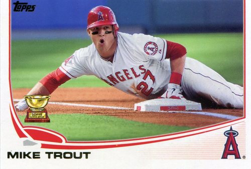 Photo of 2017 Topps Update All Rookie Cup #ARC5 Mike Trout -- REPRINT