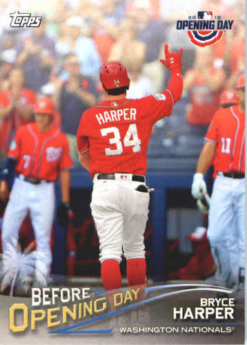Photo of 2018 Topps Opening Day Before Opening Day #BODBH Bryce Harper