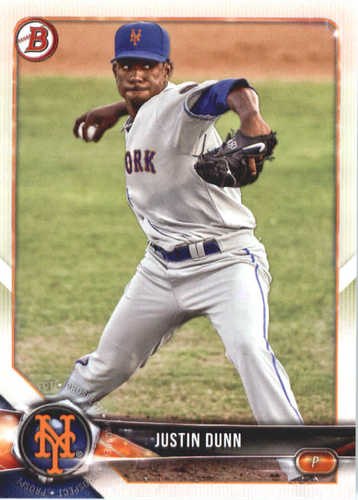 Photo of 2018 Bowman Prospects #BP82 Justin Dunn