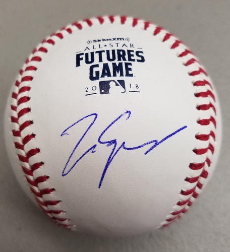 Photo of Matt Manning Autographed 2018 Futures Logo Baseball