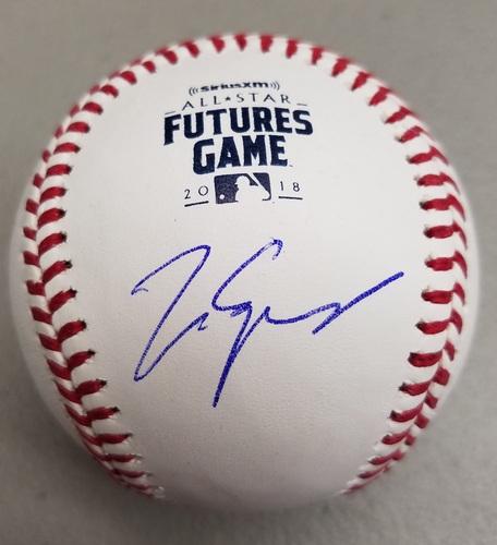 Matt Manning Autographed 2018 Futures Logo Baseball