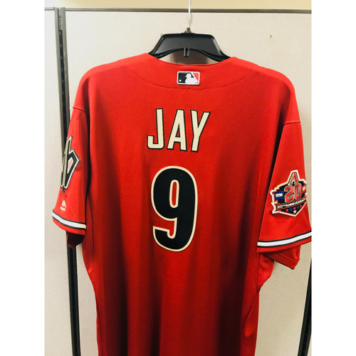 Photo of 2018 Game-Used Throwback Jon Jay Jersey