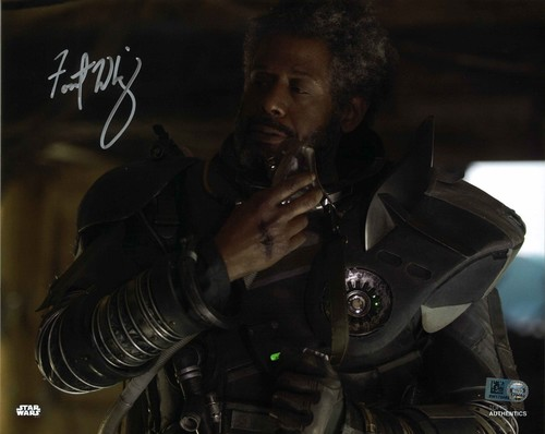 Forest Whitaker As Saw Gerrera 8X10 Autographed in Silver Ink Photo