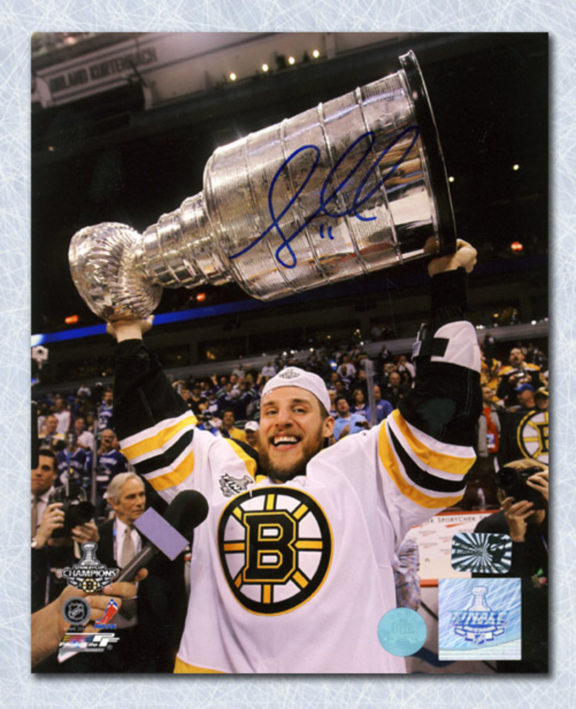 Greg Campbell Boston Bruins Autographed Stanley Cup 8x10 Photo