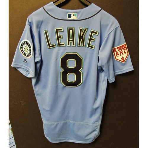 Mike Leake Team Issued Light Blue Spring Training Jersey 2019  Exhibition Game - SD @ SEA 3-26-2019