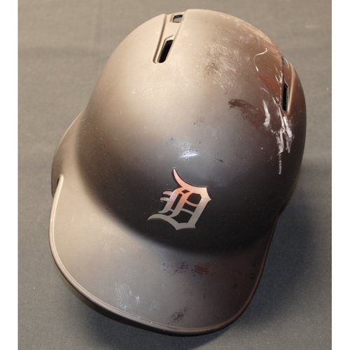 "Photo of Harold ""Casty"" Castro Detroit Tigers Game-Used 2019 Players' Weekend Helmet"