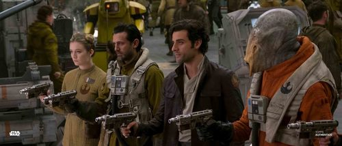 Poe Dameron, Lieutenant Connix and C'ai Threnalli