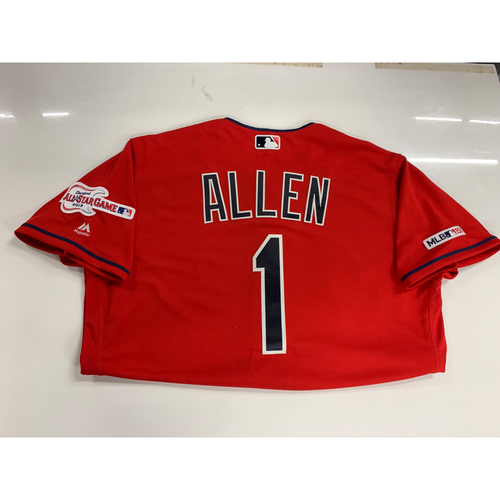 Photo of Greg Allen 2019 Team Issued Alternate Home Jersey with ASG Patch