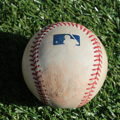 Photo of Game-Used Baseball: Charlie Morton Pitched Strike to Martin Maldonado (5/2/19 - TB @ KC)