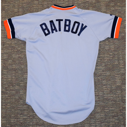 Photo of Detroit Tigers Bat Boy Road Jersey #1 (NOT MLB AUTHENTICATED)