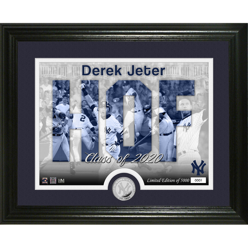 Photo of Derek Jeter 2020 HOF Induction Silhouette Silver Coin Photo Mint