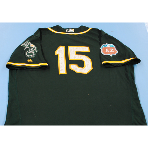 Photo of Game-Used 2016 Spring Training Jersey - Lambo Anderson - Size 50 - Oakland Athletics