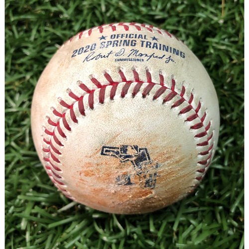 Photo of Spring Training Game Used Baseball: Manuel Margot double off Tanner Houck - February 24, 2020 v BOS