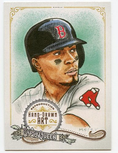 Photo of 2017 Topps Gypsy Queen Hand Drawn Art Reproductions #GQARXB2 Xander Bogaerts