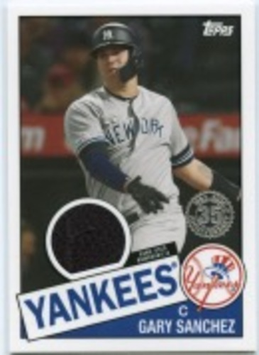 Photo of 2020 Topps '85 Topps Relics #85TRGS Gary Sanchez