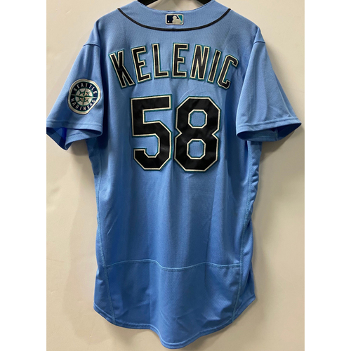 Photo of Team Issued 2020 Jersey - Jarred Kelenic #58 Light Blue Jersey