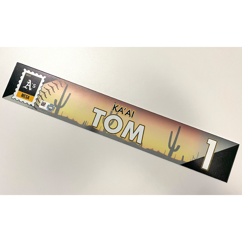 Photo of Game-Used 2021 Spring Training Locker Nameplate - Ka'ai Tom