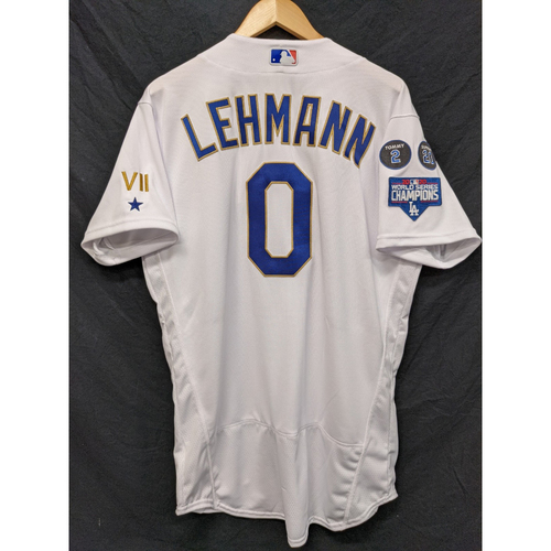 Photo of Danny Lehmann Team-Issued Gold Trim 2021 Opening Weekend Home Jersey