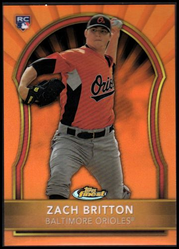 Photo of 2011 Finest Orange Refractors #84 Zach Britton