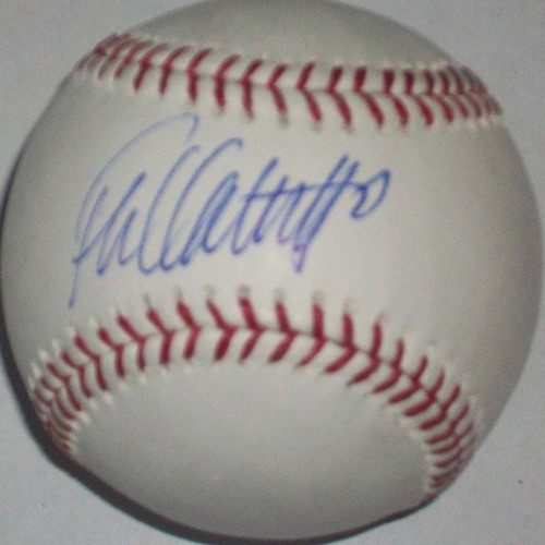 Photo of Frank Catalanotto Autographed Baseball