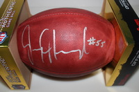 BILLS - JERRY HUGHES SIGNED AUTHENTIC FOOTBALL