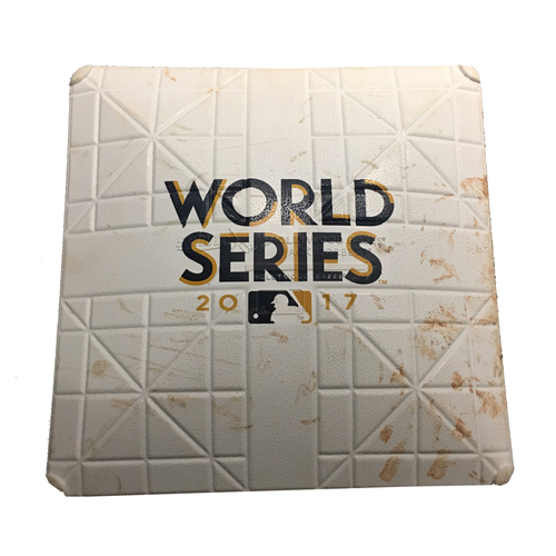 2017 World Series Game 7: Game-Used Second Base, Used Innings 1 and 2