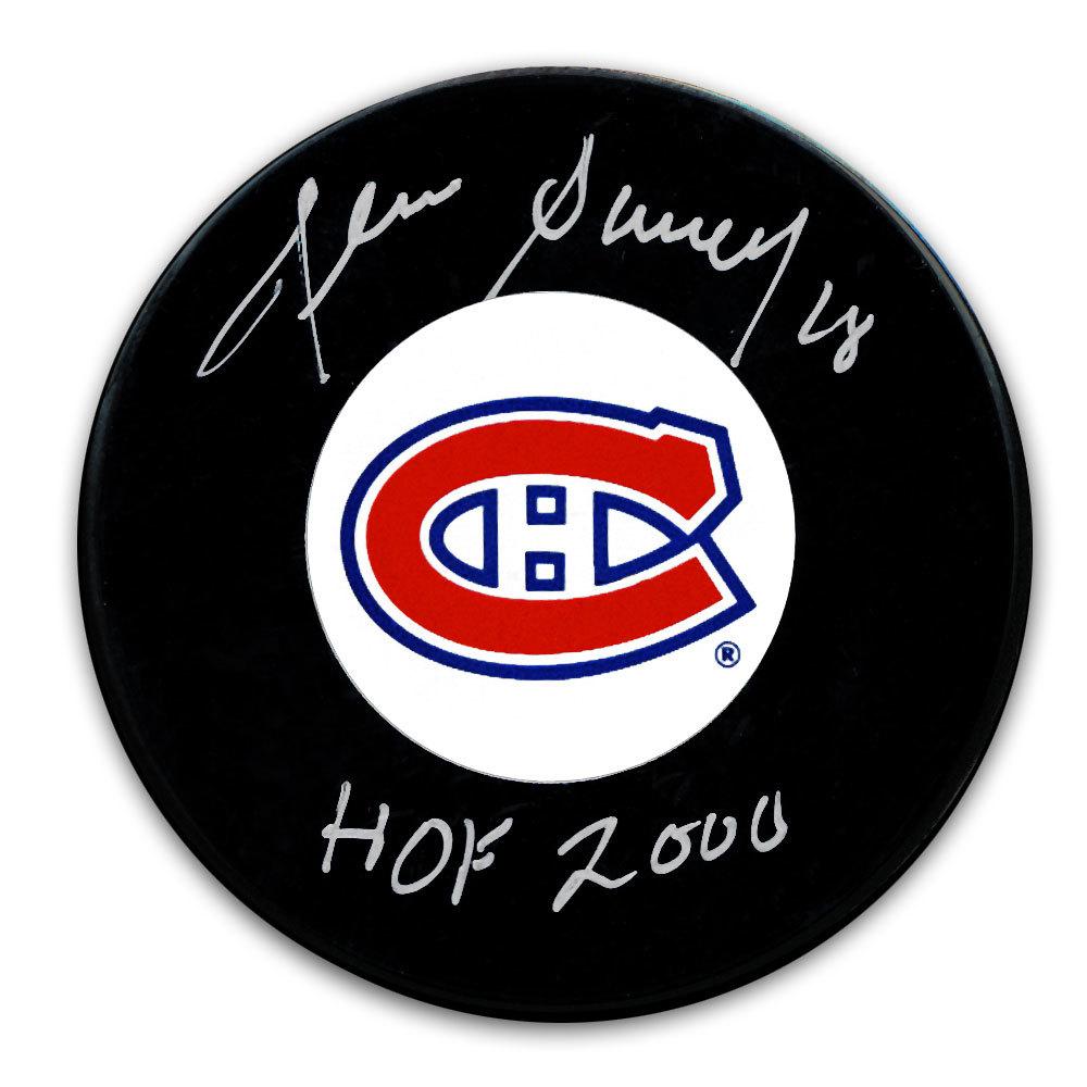 Denis Savard Montreal Canadiens HOF Autographed Puck
