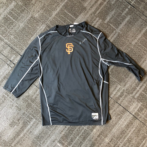 Photo of San Francisco Giants - Mac Williamson Autographed Shirt. Shirt Size - XXL