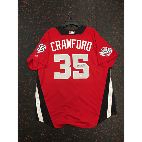 Photo of Brandon Crawford 2018 Major League Baseball Workout Day Autographed Jersey