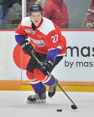 3f1b91c7c Barrett Hayton 2018 Sherwin-Williams CHL NHL Top Prospects Game Worn Jersey