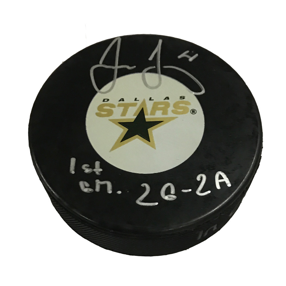 JAROMIR JAGR Signed Dallas Stars Puck with 2G 2A Inscription