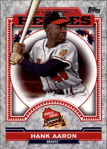 Photo of 2014 Topps Update World Series Heroes #WSHHA Hank Aaron
