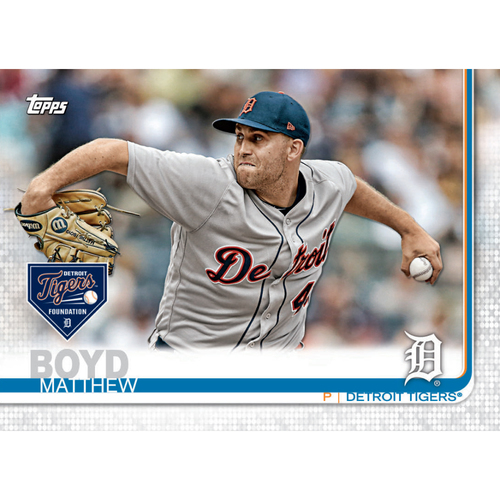 Photo of Autographs for a Cause: Matthew Boyd Autographed Limited Edition 2019 Topps Detroit Tigers Baseball Card