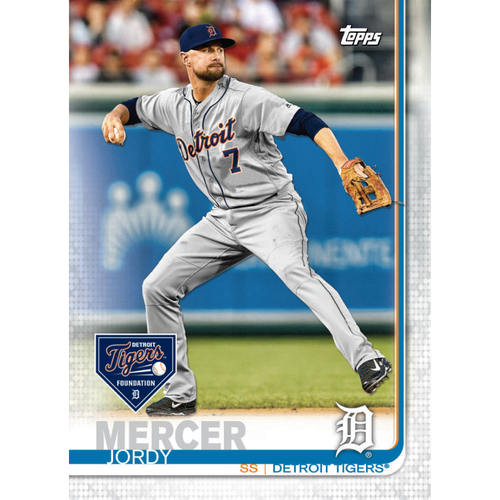 Photo of Autographs for a Cause: Jordy Mercer Autographed Limited Edition 2019 Topps Detroit Tigers Baseball Card