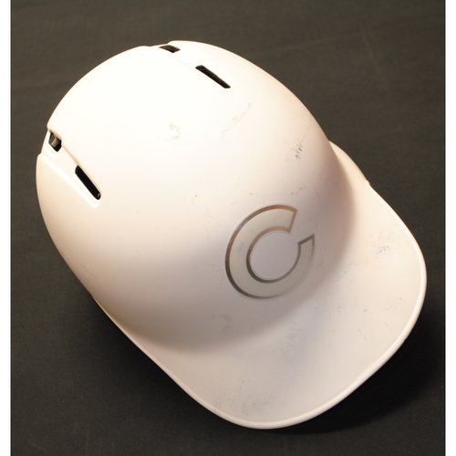 """Photo of Addison """"Addy"""" Russell Chicago Cubs Game-Used 2019 Players' Weekend Helmet"""