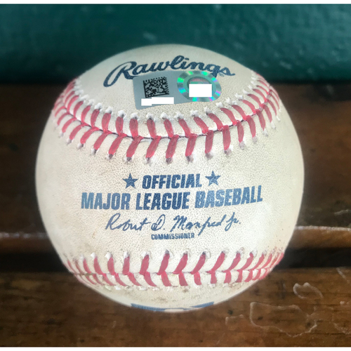 Photo of Cardinals Authentics: Game Used Pitched Baseball by Andrew Miller to Ian Happ *Double RBI*
