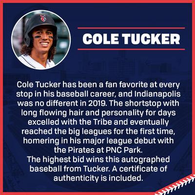 Cole Tucker Autographed Baseball