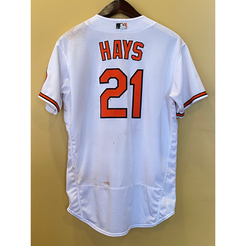 Photo of Austin Hays - Opening Day Home Jersey - Game-Used