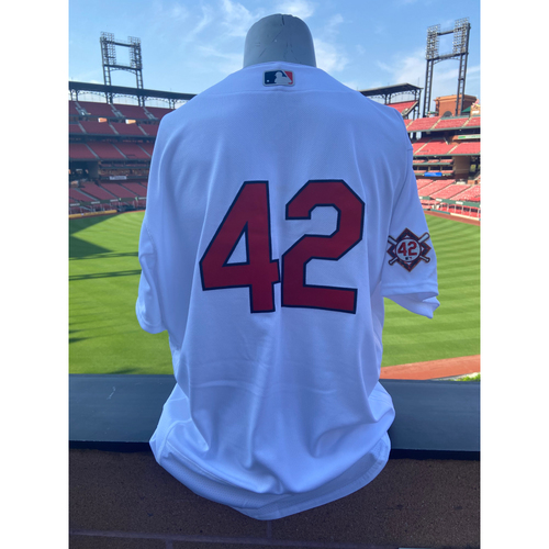 Photo of Cardinals Authentics: Team Issued Kleininger Teran Jackie Robinson Day Jersey