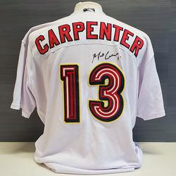 Photo of Matt Carpenter Autographed Game-Worn Memphis Redbirds 2019 Home Jersey