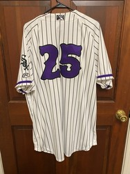 Photo of #25 Dash Jersey Signed Live by Hall of Famer, Jim Thome.  Will be signed duri...