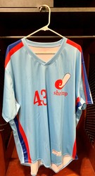 Photo of Jacksonville Expos Fauxback Jersey #43 Size 52
